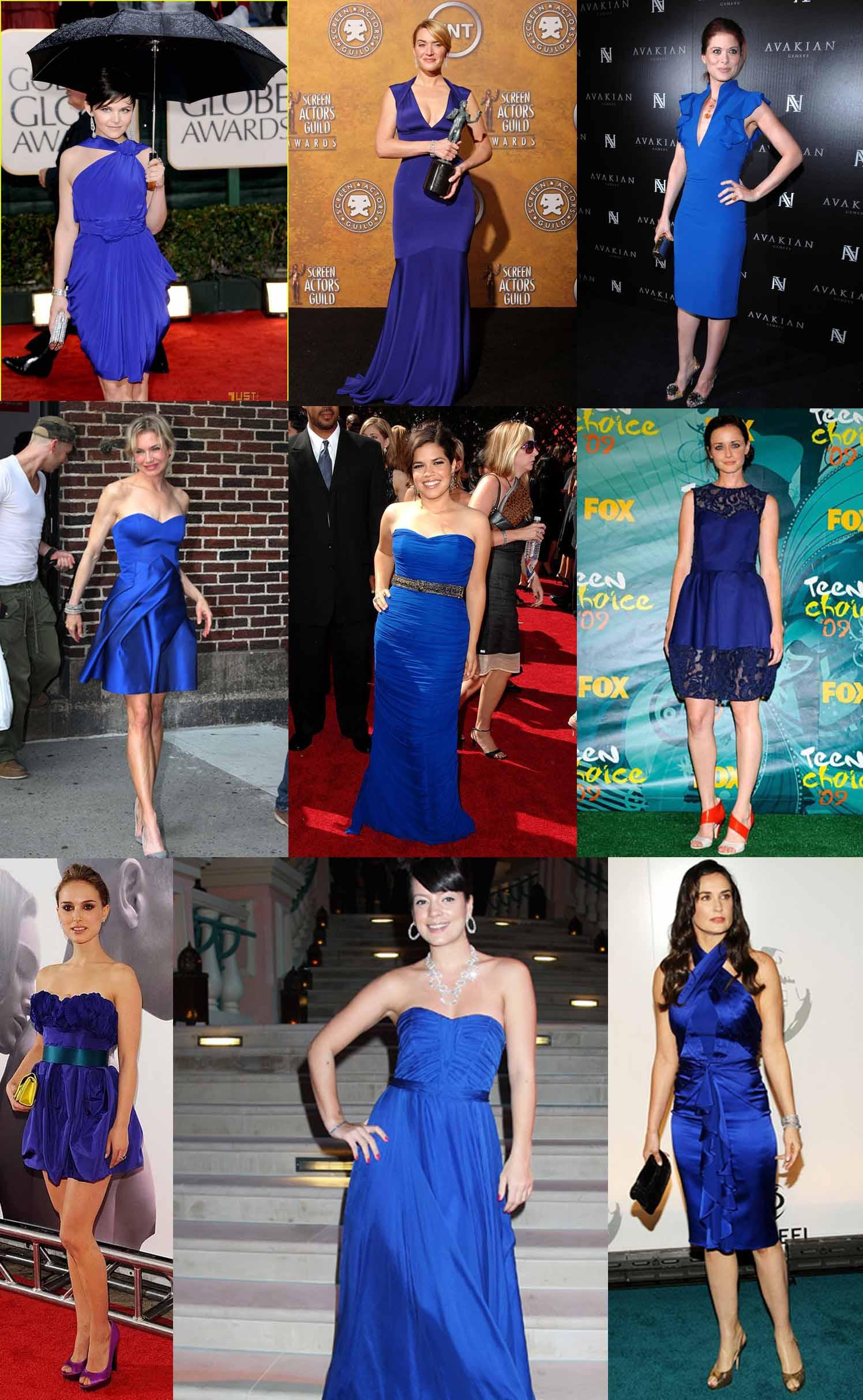 Sapato para usar com vestido azul royal