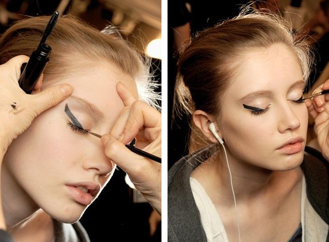 Chanel alta costura maquiagem delineado primavera 2011