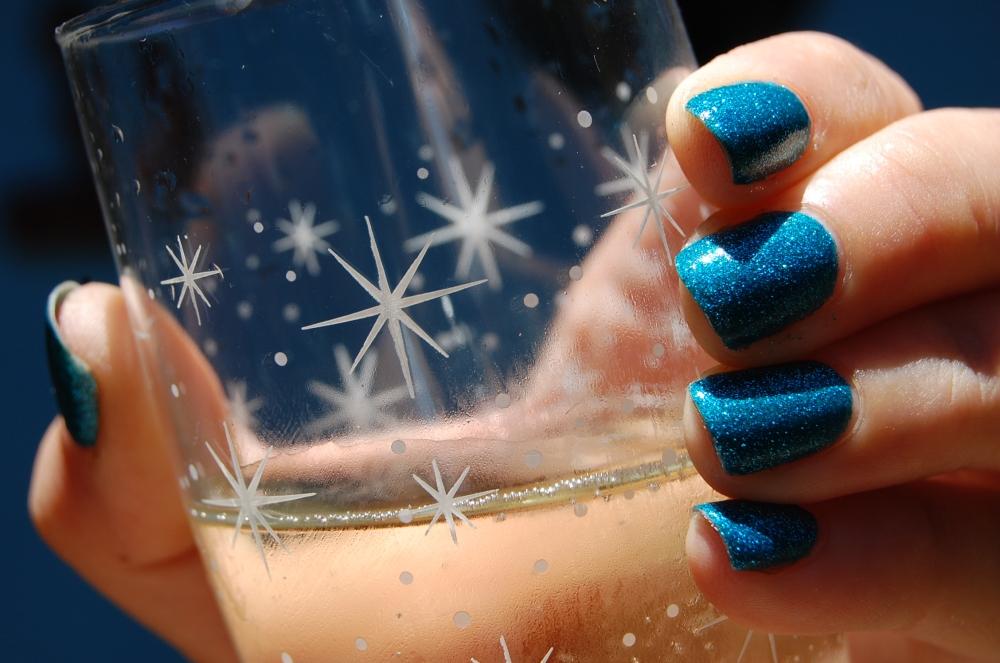 esmalte glitter forte azul 5cinco