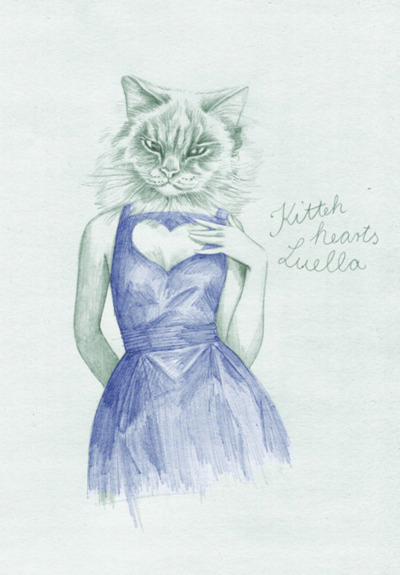 Elisabeth Moch Luella illustration cat