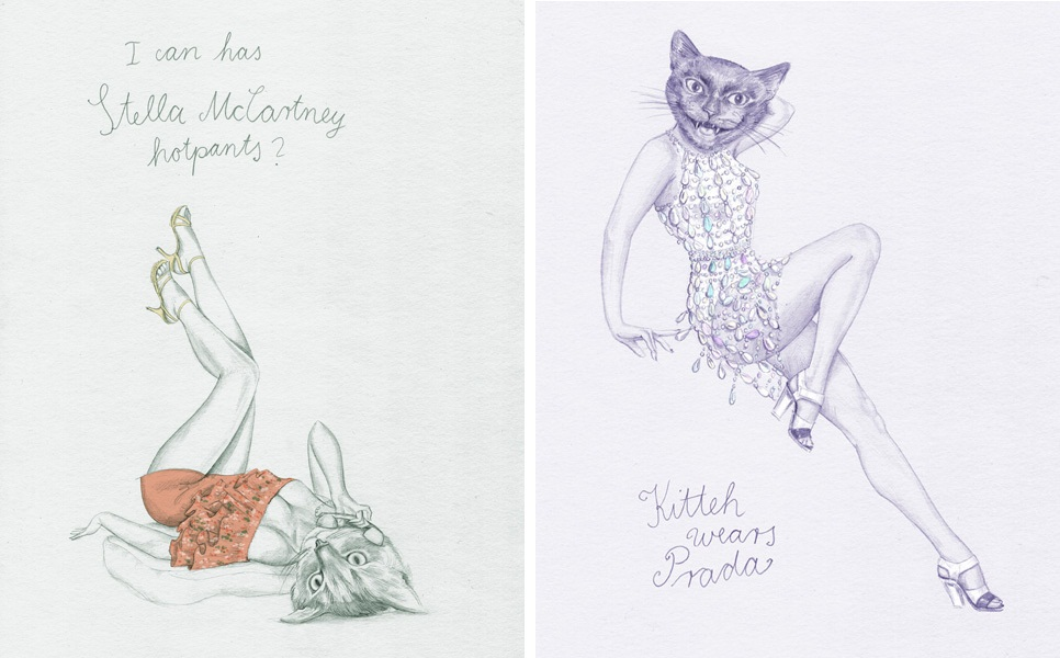 Elisabeth Moch Stella McCartney Prada illustrations cat