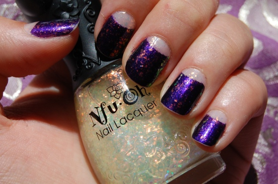 nail art meia lua flocado Nfu-Oh 38