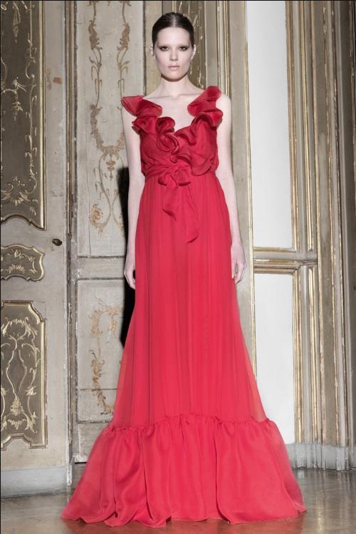 Valentino Pre fall vestido longo vermelho