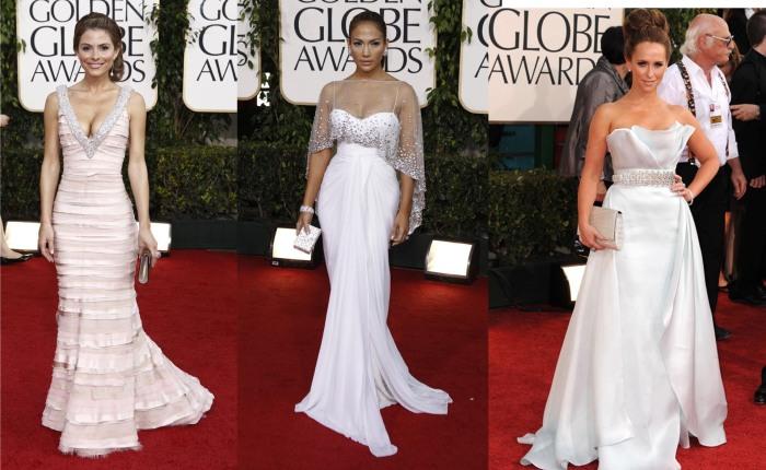 Vestidos Brancos Golden Globes 2011 Maria Menounos, Jennifer Lopez, Jennifer Love-Hewitt