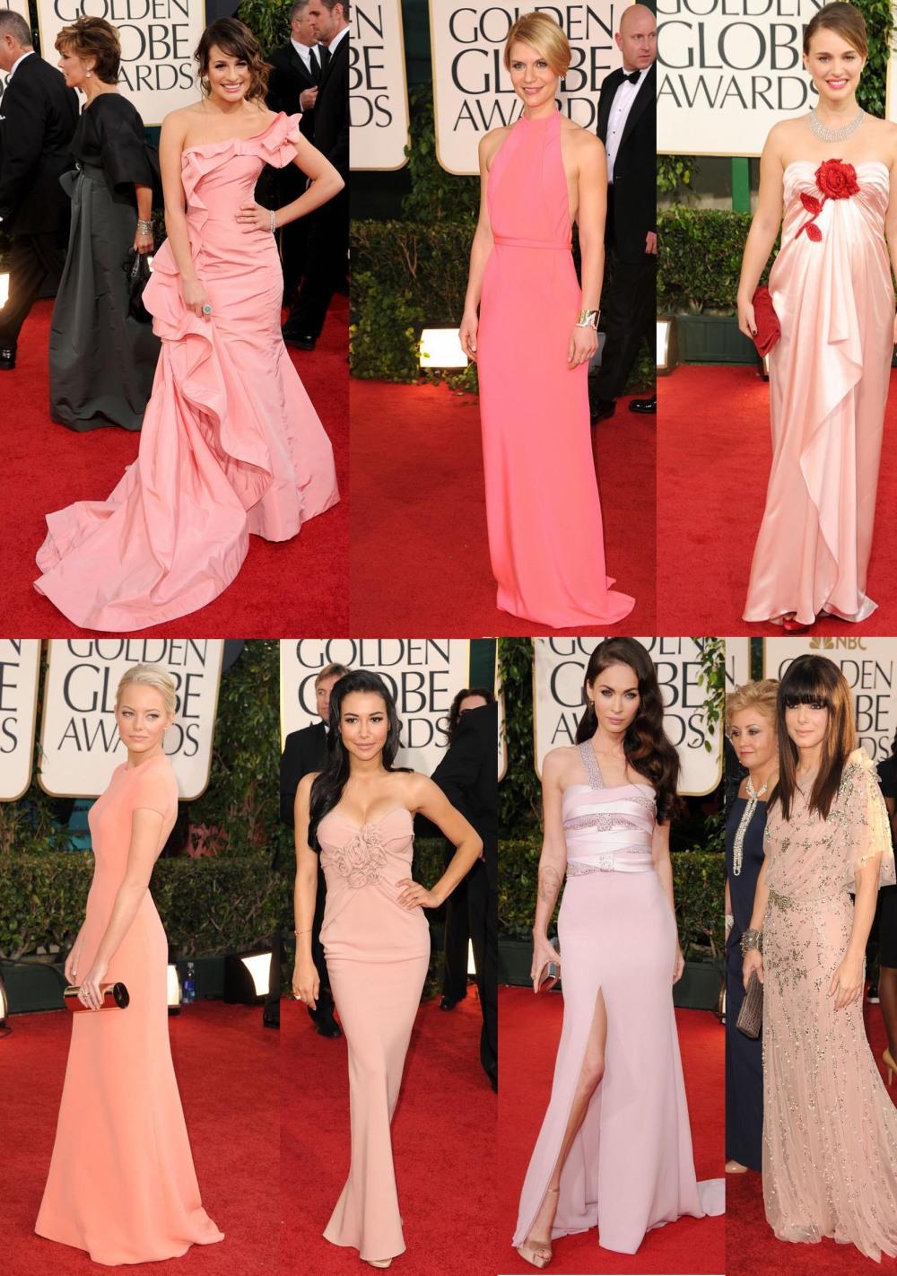 Vestidos Rosas Golden Globes 2011