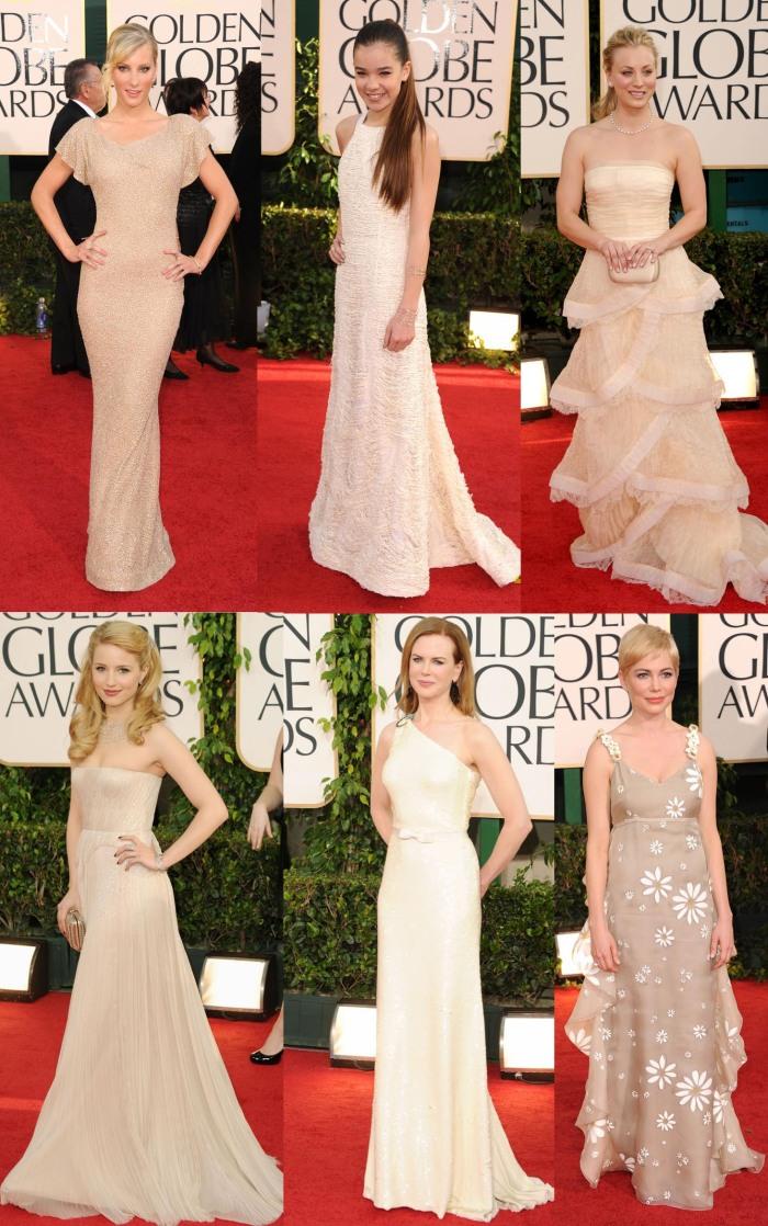 Vestidos Nude Golden Globes 2011