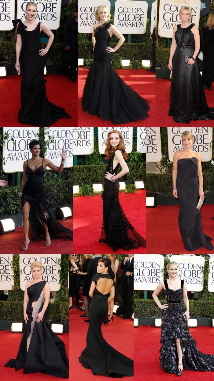 Vestidos Pretos Golden Globes 2011