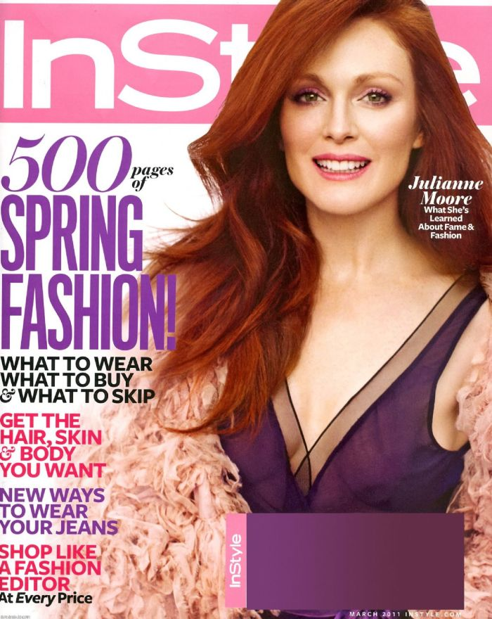 Julianne Moore InStyle Magazine cover