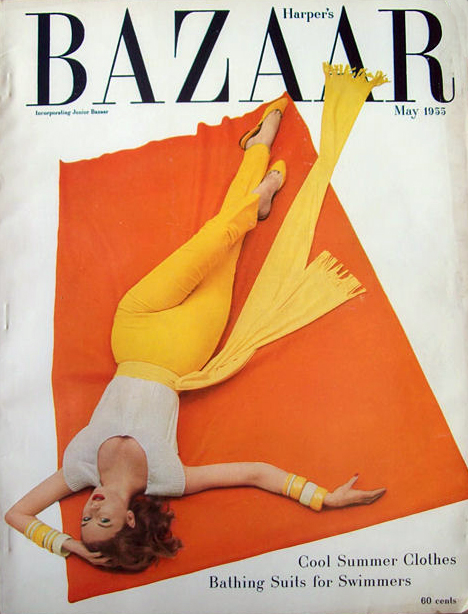 1955 may harper's bazaar cover