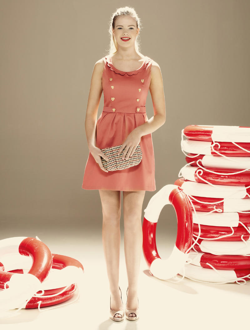 Blanco spring 2011  lookbook coral dress