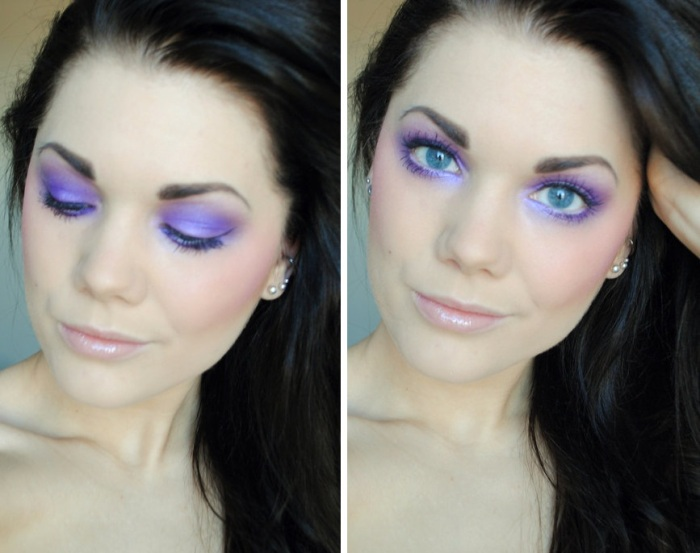 Linda Hallberg maquiagem lilás