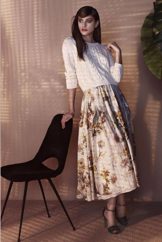 Mango flowers dress lookbook spring 2011
