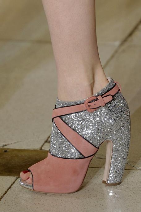 Miu Miu Fall 2011 shoes glitter pink