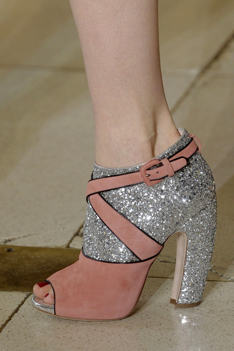 Miu Miu Fall 2011 shoes glitter pink