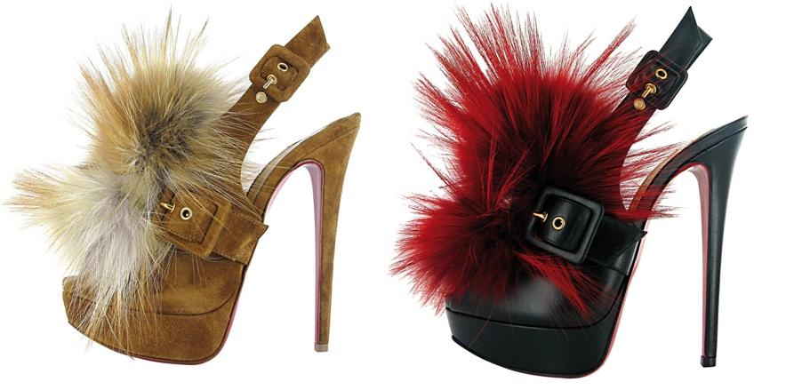 Louboutin-Fall-2011-Splash-Fur-embellished-platform-slingback