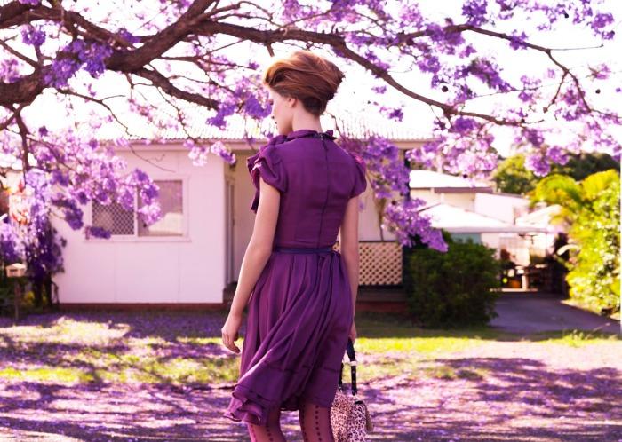 Marie Claire 2010 Purple Rain