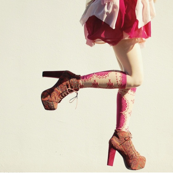 tinytoadstool lita jeffrey campbell print shoes